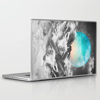 mountains Laptop & iPad Skins featuring It Seemed To Chase the Darkness Away by soaring anchor designs