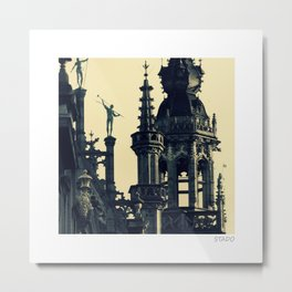 Architecture of Brussels Metal Print