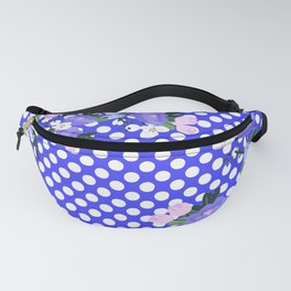 Floral on Pattern Background Fanny Pack