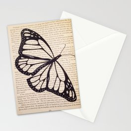 Butterfly in a Book Stationery Cards