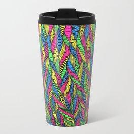 Neon pattern  Metal Travel Mug