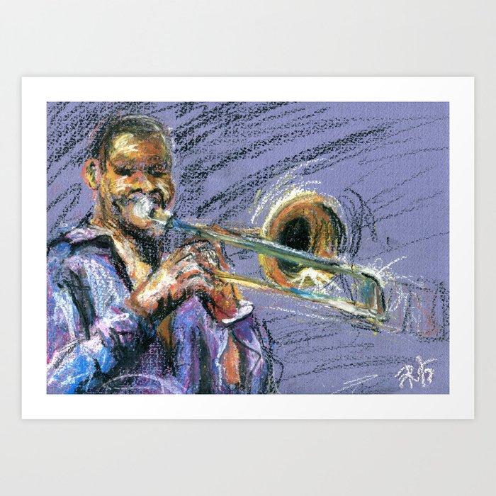 Jazz Trombonist Art Print