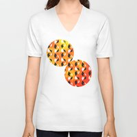 circus V-neck T-shirts featuring Circus by Raluca Ag