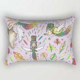 Fall Leaf Fairies Rectangular Pillow