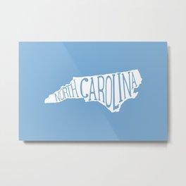 North Carolina - Carolina Blue Print Metal Print