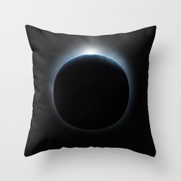 Earth Ring Throw Pillow