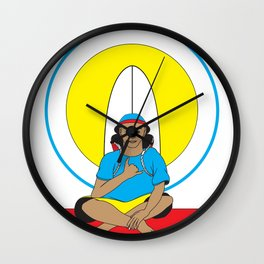 Surf Religion Wall Clock