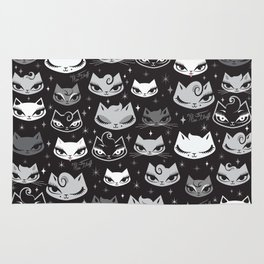 Rockabilly Cats with Pompadours Rug
