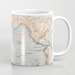 Vintage Volcano and Earthquake World Map (1852) Coffee Mug