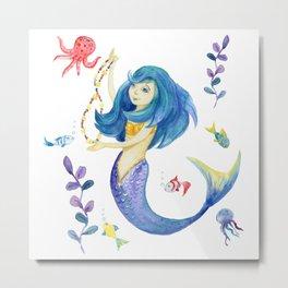Dancing Mermaid Metal Print