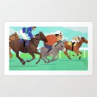 Racing Horses Art Print