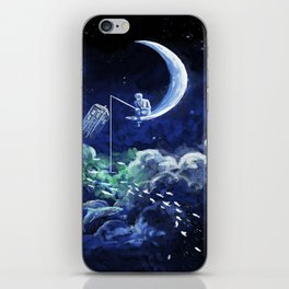 The Doctor Dreaming Of Fishing iPhone Skin