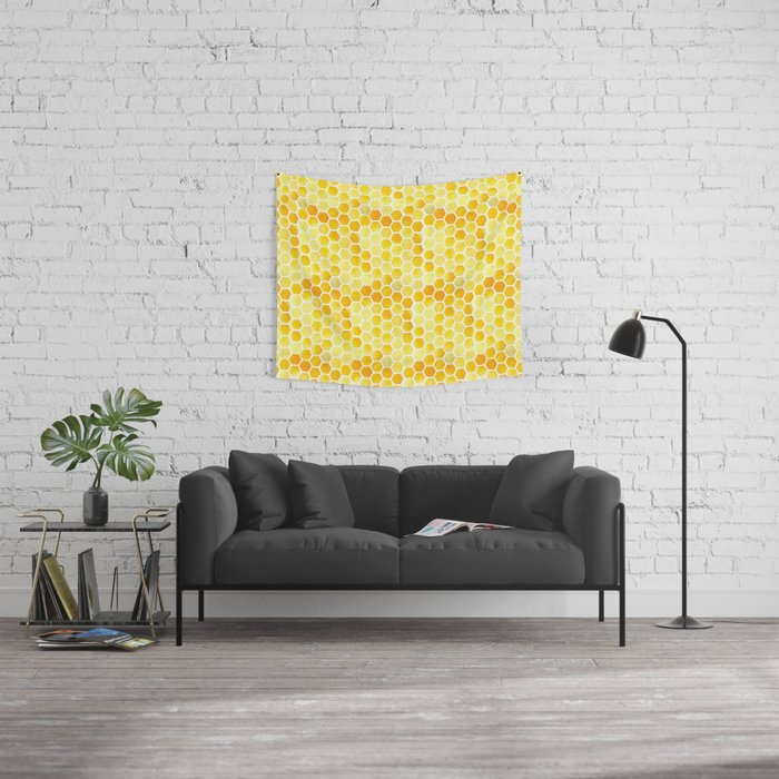 Watercolour Honeycomb Wall Tapestry
