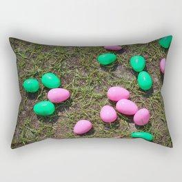 Pink And Green Eggs Rectangular Pillow