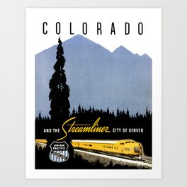 Union Pacific Train poster 1936 - Retouched Version Art Print