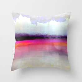 Pink Silver Throw Pillow