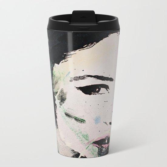 Monika Bellucci Metal Travel Mug