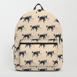 Attack of the Colossal Boston Terrier!!! Backpack