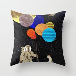 The gift of space Throw Pillow