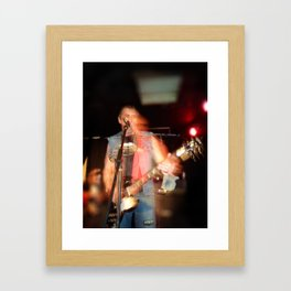 Joey from D.O.A live onstage Framed Art Print