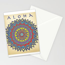 "Vintage Inspired ""Aloha"" Mandala Print Stationery Cards"