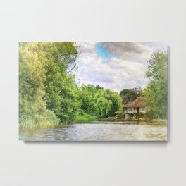 House By The River 2 Metal Print