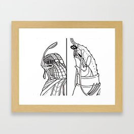 B&W Weirdos 11 Framed Art Print