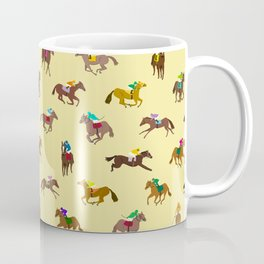 To The Horse Races (Yellow) Coffee Mug