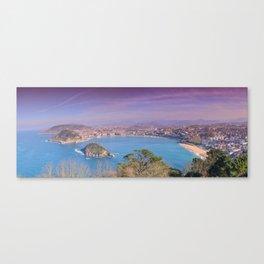 La Concha Bay seen from Igeldo Mount. Canvas Print