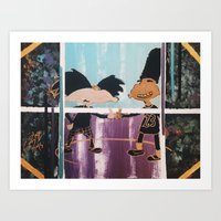hey arnold Art Prints featuring |HEY! Arnold: Dope Streetz| by Cr38bySunBlaze