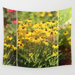 Black Eyed Susans Triptych Wall Tapestry