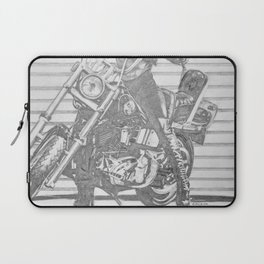 Biker Chick Laptop Sleeve