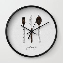 Just Eat It, Music Quote Wall Clock