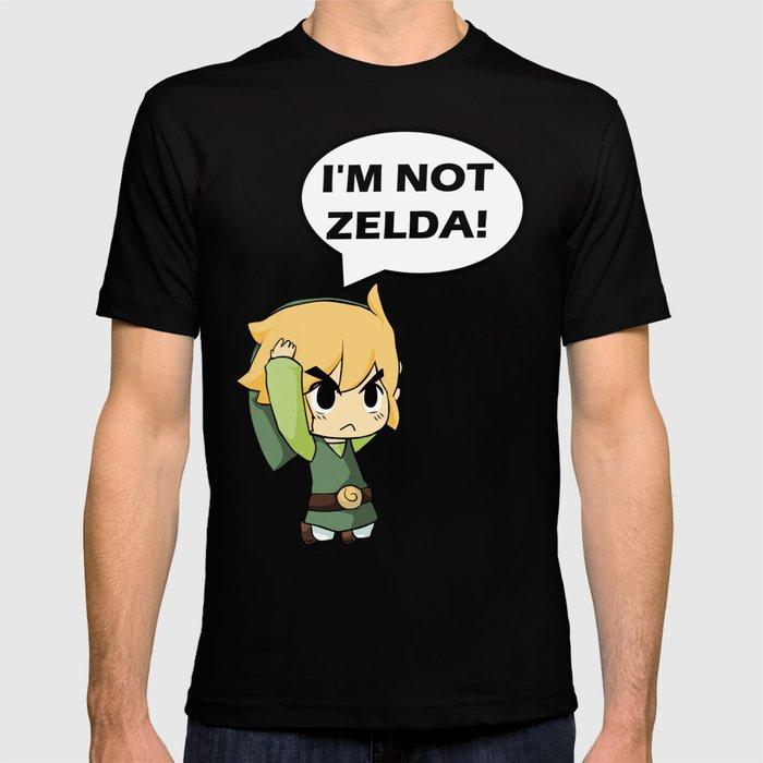 0e61acf7e I'm not Zelda! (link from legend of zelda) T-shirt by outerheaven ...