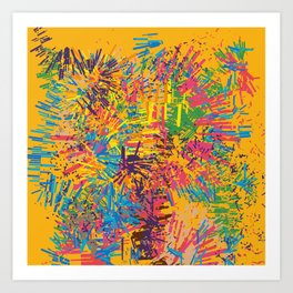 Yellow Sunny Abstract Summer Joyful Pattern Art by Emmanuel Signorino Art Print