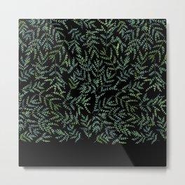 Watercolor leaf pattern Metal Print