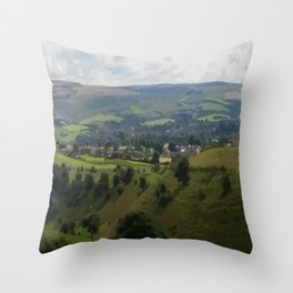 Rochdale Hilltop view Throw Pillow