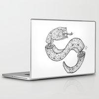 snake Laptop & iPad Skins featuring SNAKE by JustJustin