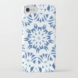 Snowflake Denim & White iPhone Case