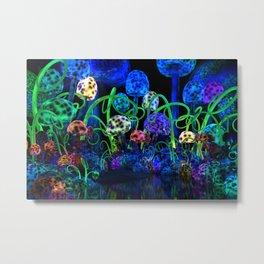 Magical mushroom cluster Metal Print