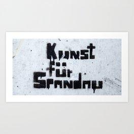 Kunst für Spandau Art Print