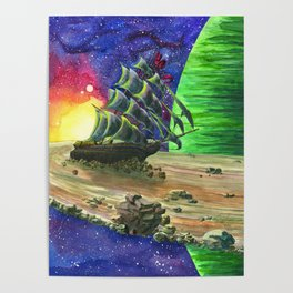 Space Ship Poster