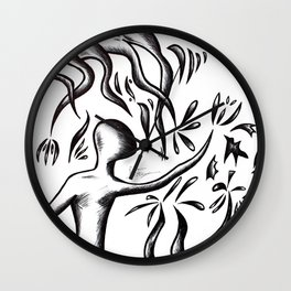 FlowersPower Wall Clock