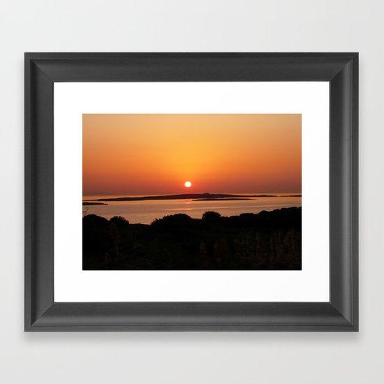 Tranquil Sunset, Paros Island, Greece  Framed Art Print