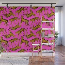 Tigers (Magenta and Marigold) Wall Mural