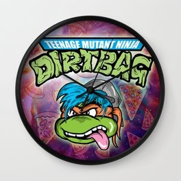 TEENAGE MUTANT NINJA DIRTBAG Wall Clock