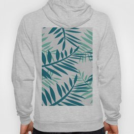 Big Fern leaves light grey Hoody