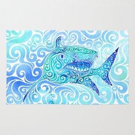 Swirly Shark Rug
