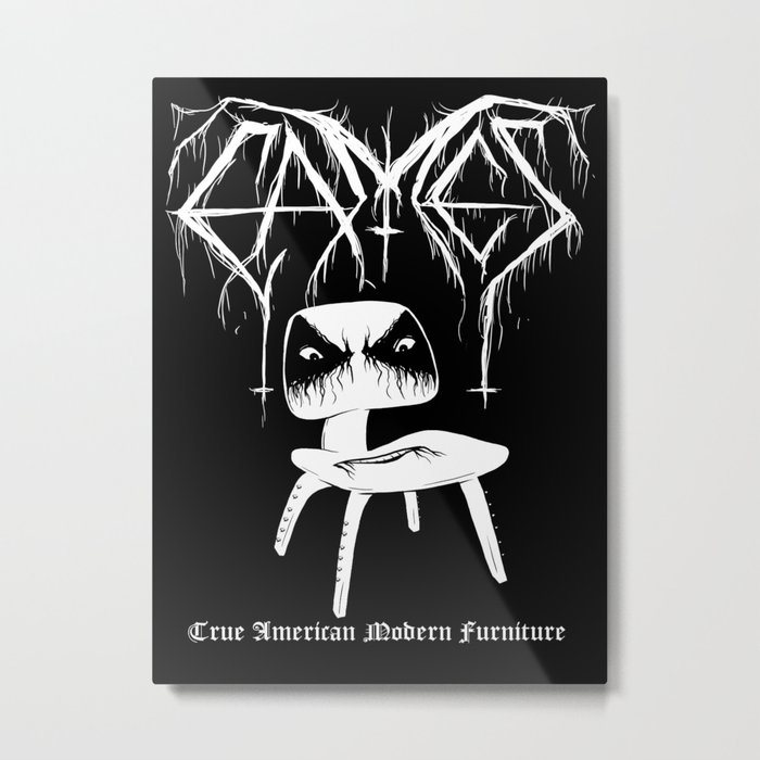 Modern Black Metal Metal Print