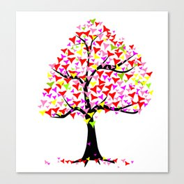 Summer Hearts Tree Canvas Print